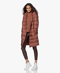 Closed Cosy Pori Quilted Puffer Coat - Mahogany