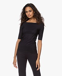 Filippa K Soft Sport Slim Mid sleeve Top - Black