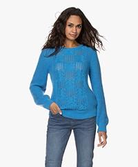 Kyra & Ko Isrid Cable Ajour Sweater - Vintage Blue
