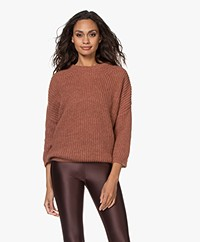 by-bar Milou Susi Fisherman's Rib Sweater - Copper