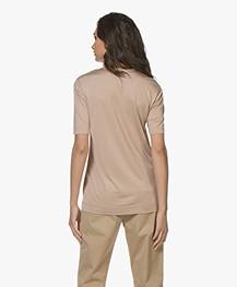 Joseph Silk Crew Neck T-shirt - Denier