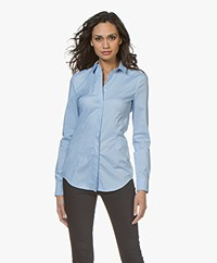 Drykorn Livy Basic Blouse - Light Blue