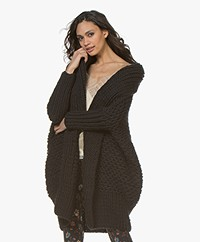 I Love Mr Mittens Pearl Stitch Open Vest - Zwart