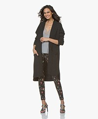 Sibin/Linnebjerg Vega Long Open Cardigan - Anthracite