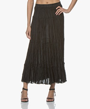 Mes Demoiselles Shamadan Silk Maxi Skirt - Black