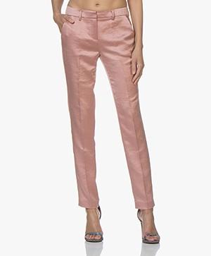 Ba&sh Dana Satijnen Pantalon - Pink Rose