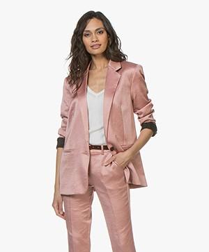 ba&sh Darcy Satijnen Blazer - Pink Rose