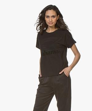 Rag & Bone Bahamas Burnout Print T-shirt - Zwart