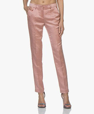 Ba&sh Dana Satijnen Pantalon - Pink Rose