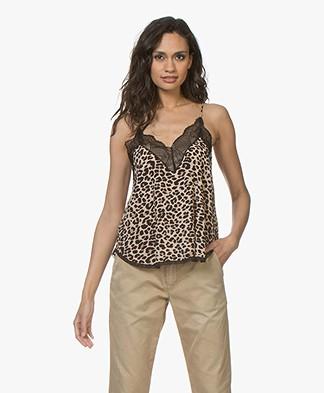 Zadig & Voltaire Christy Viscose Leopard Camisole - Naturel