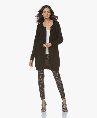 Resort Finest Nobile Cardigan in Cashmere Blend - Black