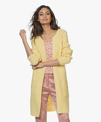 Sibin/Linnebjerg Yang Open Moss Knit Cardigan - Yellow
