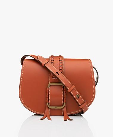 ba&sh Teddy M Leather Shoulder Bag - Tan