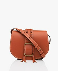 ba&sh Teddy M Leather Shoulder Bag - Tan