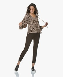Zadig & Voltaire Theresa Leopard Print Blouse - Naturel