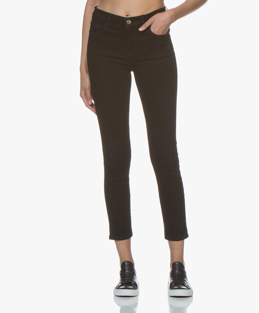 Afbeelding van Current/Elliott The High Waist Stiletto Skinny Jeans Zwart 0 Years Worn