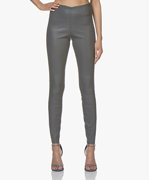 By Malene Birger Elenasoo Leren Legging - Stone Grey