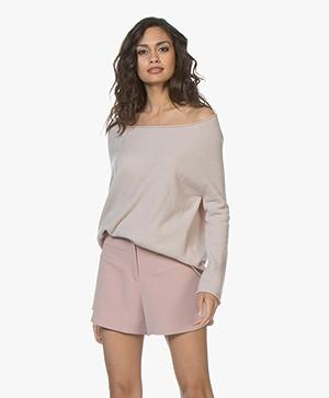 LaSalle Cashmere Boatneck Pullover - Aurora Pink