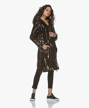 Maium 2-in-1 Rain Coat - Black Patent