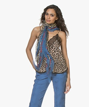 Zadig & Voltaire Kerry Multi Print Scarf - Blue