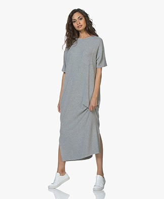 American Vintage Vetington Fine Knit Maxi Dress - Grey