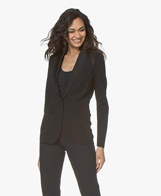 JapanTKY Mytas Travel Jersey Tuxedo Blazer - Black