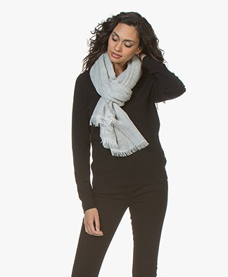 Filippa K Soft Melange Scarf - Light Grey
