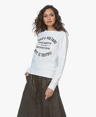 Zadig & Voltaire Upper Blason Sweatshirt - White