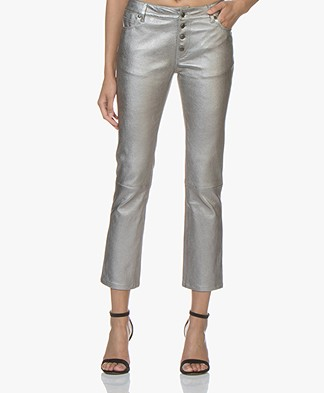 Zadig & Voltaire London Leather Pants - Gun Metal