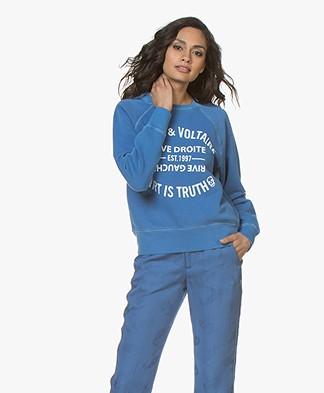 Zadig & Voltaire Upper Blason Sweatshirt - Bleu Marguerite
