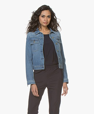 Filippa K FK JEANS Suzy Washed Denim Jacket - Mid Blue