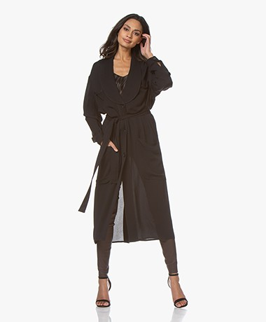 By Malene Birger Encelia Midi Crêpe Dress - Black