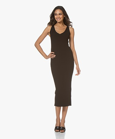 Drykorn Darline Sleeveless V-neck Dress - Black