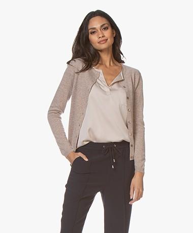 Resort Finest Lucca Cashmere Basic Vest - Taupe