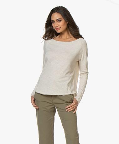 American Vintage Sonoma Slub Sweatshirt - Cream Melange