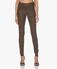 By Malene Birger Elenasoo Leren Legging - Warm Brown