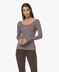 Filippa K Soft Sport Double-scoop T-shirt - Black Pearl