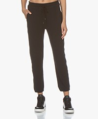 James Perse Sueded Jersey Lounge Pants - Black