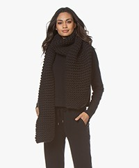 I Love Mr Mittens Billie Chunky Wool Scarf - Black
