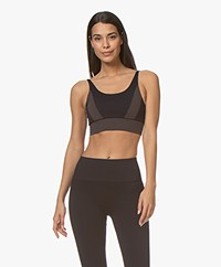 Filippa K Soft Sport Jaquard Seamless Top - Night Sky/Dusty Rose