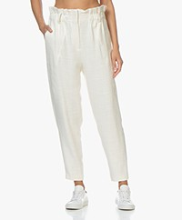 IRO Kaly Paperbag Broek - Off-white