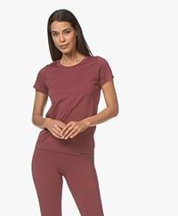 Organic Basics SilverTech™ Active T-shirt - Burgundy