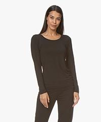 Calvin Klein Longsleeve in Modal Jersey - Zwart