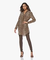 Equipment Essential Silk Shirt Dress - Leopard Print