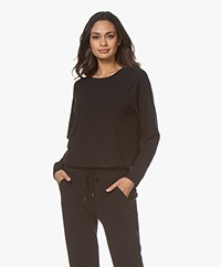 James Perse Jersey Raglan Lounge Sweater - Zwart