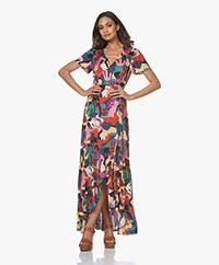 ba&sh Missy Printed Maxi Ruffle Dress - Multi-color
