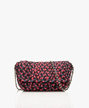 MKT Studio Baco Spaghetti Shoulder Bag - Black/Pink/Blue