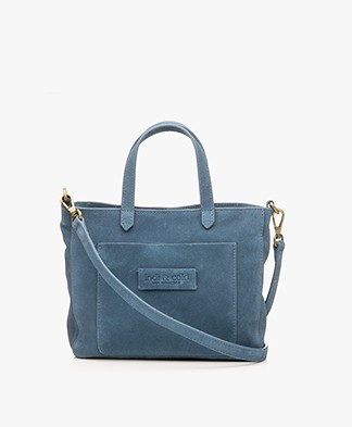 indi & cold Suede Shoulder Bag - Plomo
