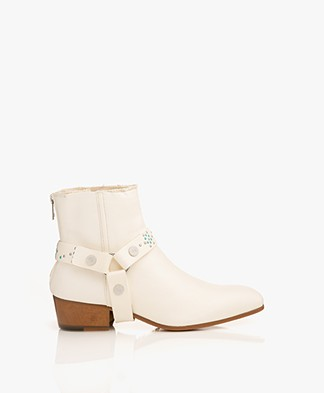 Zadig & Voltaire Sonlux Crush Ankle Boots - Off-white
