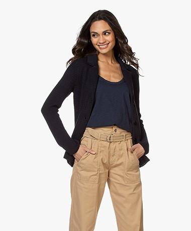 Belluna Dunn Crochet Blazer Cardigan - Navy